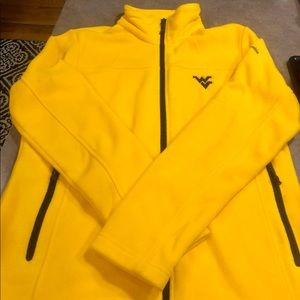 EUC Columbia WVU Mountaineer Fleece Jacket